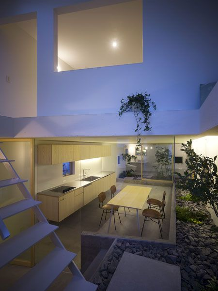 Amazing House Design In Japan   A Garden Inside The House .