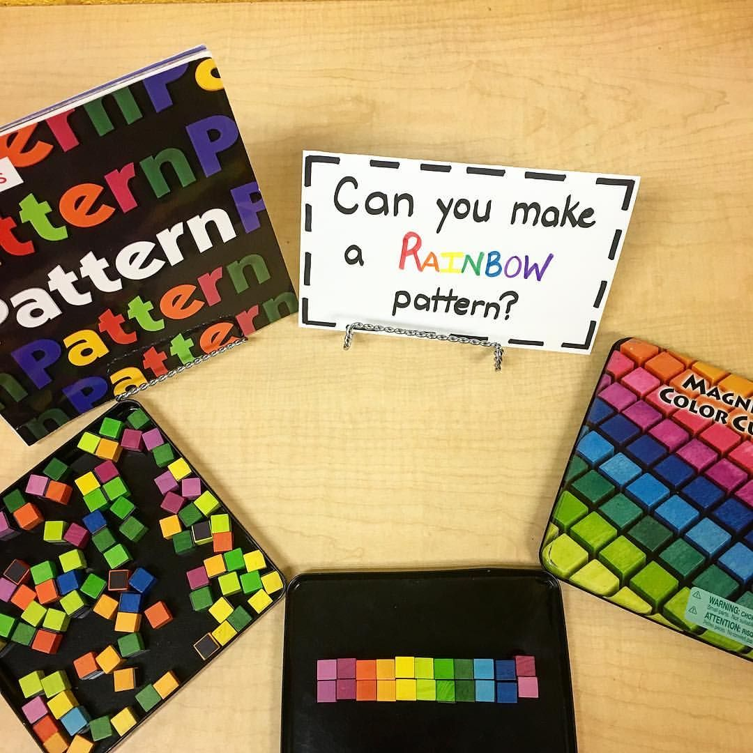 Creating Rainbow Patterns With Magnetic Wooden Cubes 13