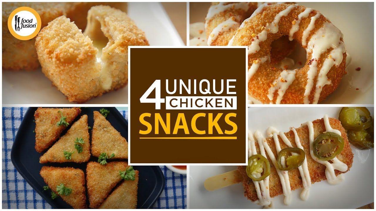 4 Unique Chicken Snacks By Food Fusion Ramzan Special Recipes Youtube Ramzan Special Recipes Chicken Snacks Special Recipes