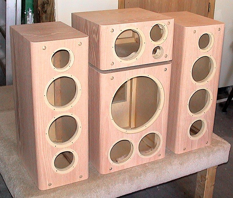 A Set Of Unfinished Cabinets For Another Custom Speaker System Custom Speaker Boxes Unfinished Cabinets Subwoofer Box Design