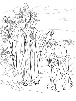 Samuel Anoiting Saul As King Coloring Pages Bible Coloring