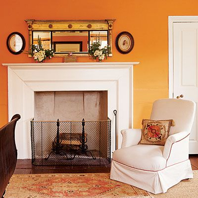 Heirloom philosophy The Color Orange Orange Pinterest - Orange Bedrooms
