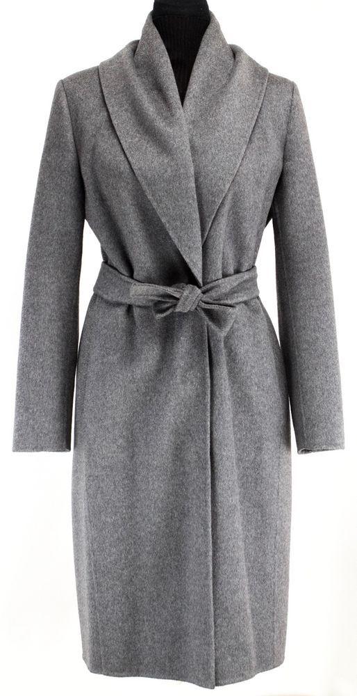 Max Mara very smart dark grey long ladies coat Size 8