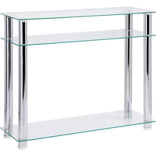 Buy Hygena Matrix Console Table Clear Glass At Argos Co Uk Your Online Shop For Occasional And Coffee Tables Hygena Coffee Table Console Table