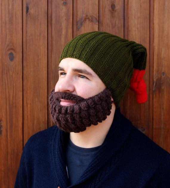 Crochet beard and hat | Knitted face warmer, Snowboard, ski mask and beanie | Funny fake beard, must #crochetedbeards