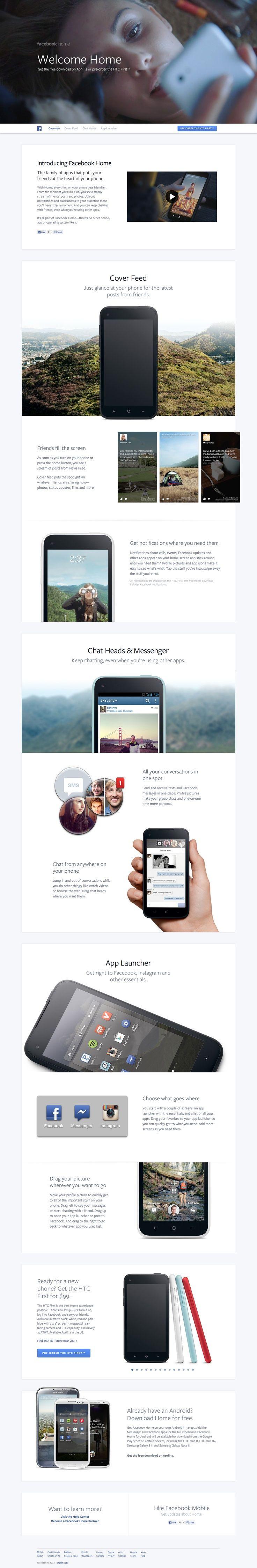 Web Design Layouts Inspiration Landing Pages Facebook Home Web Layout Design Web Design Inspiration Best Web Design