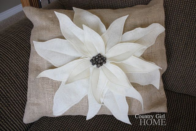 Pottery Barn Knock Off Poinsettia Pillow Pottery Barn