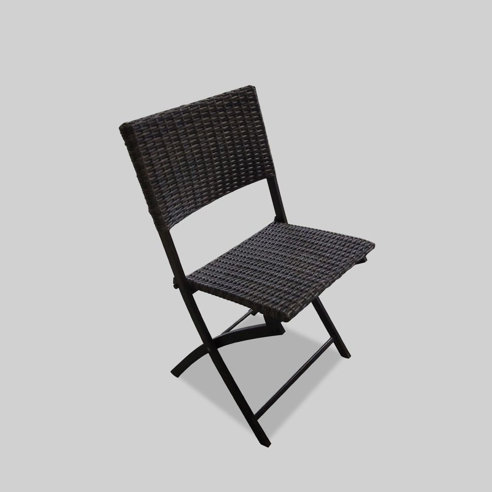 Foldable Patio Chairs Monroe Folding Patio Dining Chairs Brown Threshold In 2019