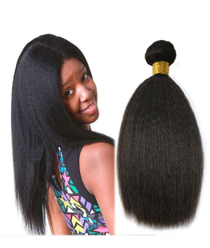 Natural black kinky straight coarse yaki brazilian virgin hair natural black kinky straight coarse yaki brazilian virgin hair weft hair extension rosyqueenhair pmusecretfo Images