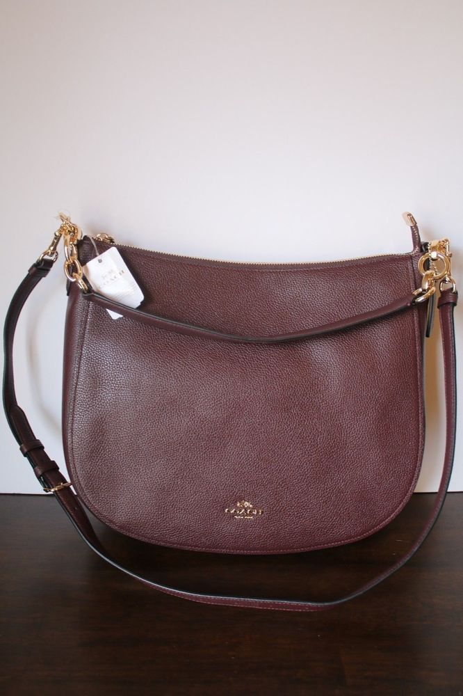 Chelsea 32 Hobo Bag in Brown Calfskin Coach