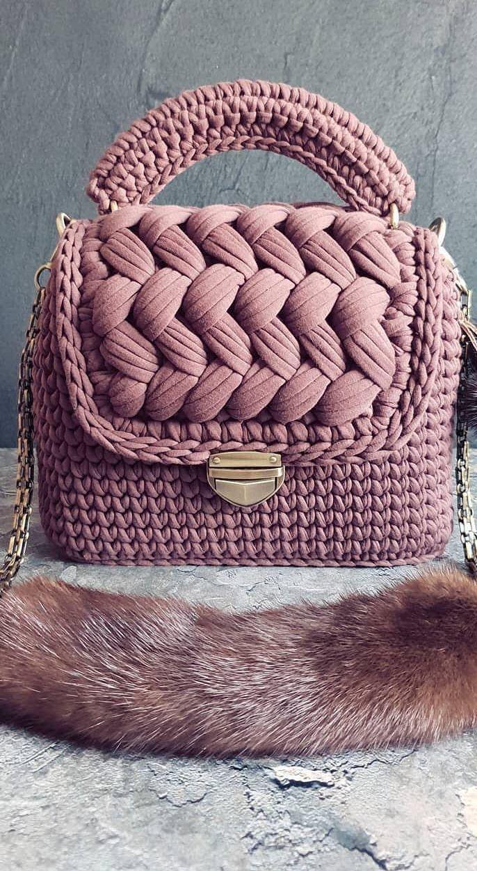 Más de 35 patrones de bolsas de ganchillo gratis, puedes hacer bolsas fabulosas en 3 días Nuevo 2019 - Página 13 de 36