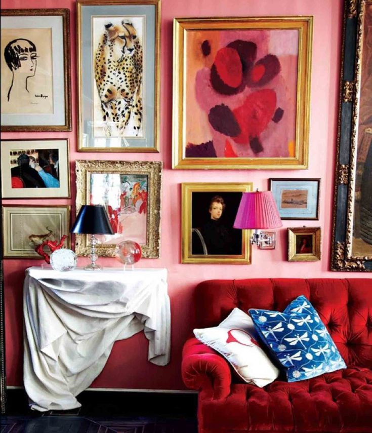 Bold reds and pinks