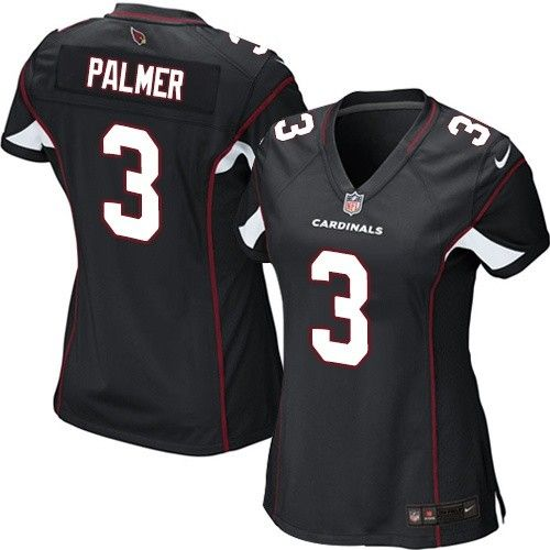 elite carson palmer womens jersey arizona cardinals 3 alternate black nike nfl