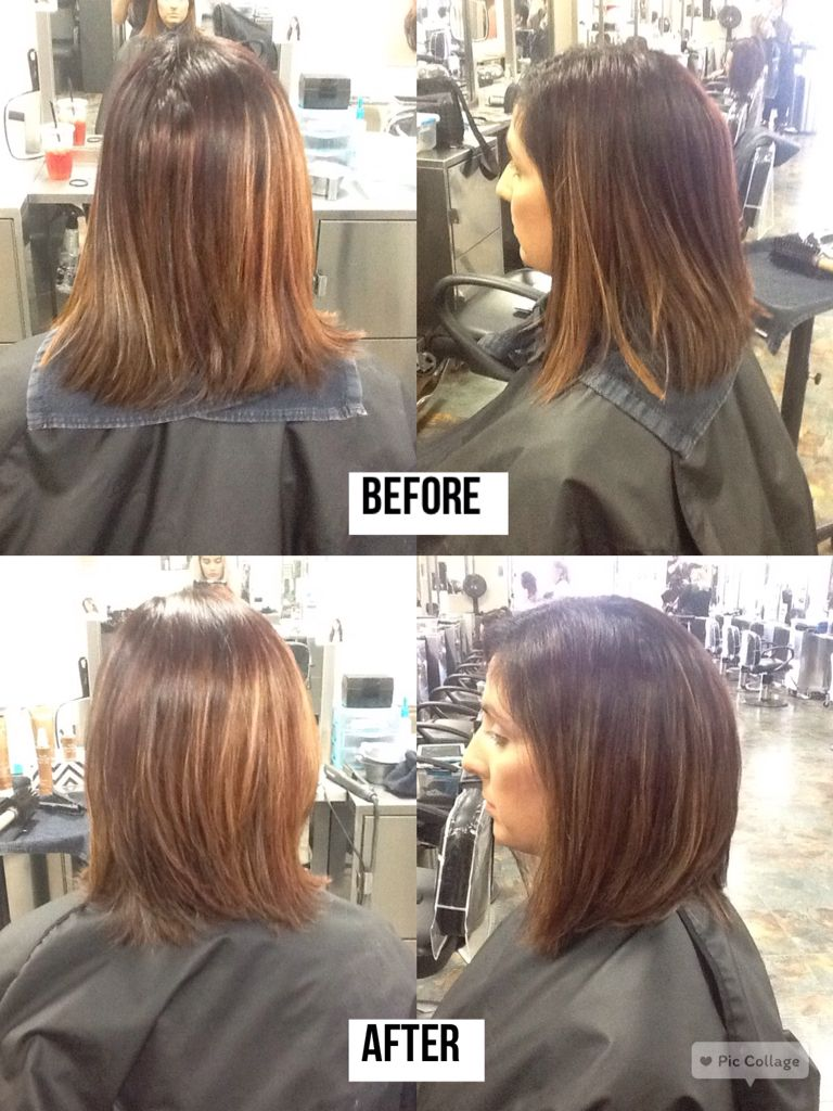 Brazilian Blowout Before And After On Thick Coarse Hair Coarse Hair Permed Hairstyles Thick Hair Styles
