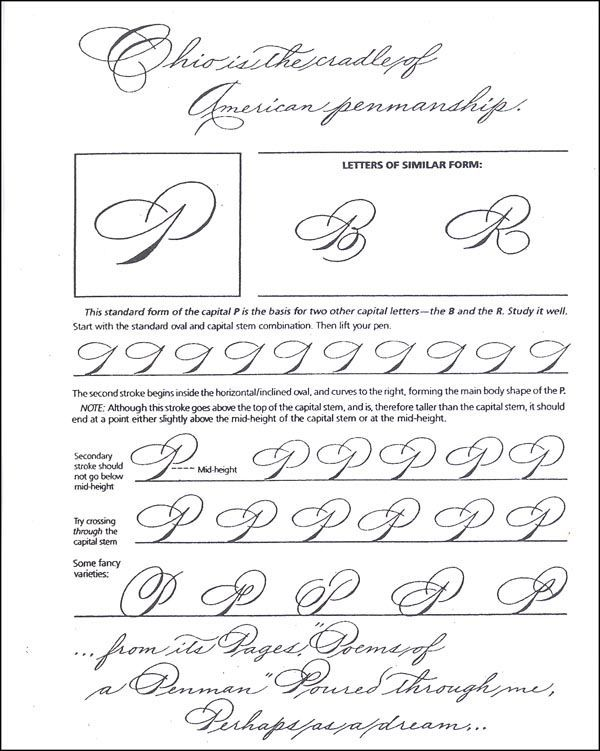 Learning to write spencerian script additional photo Learn calligraphy letters