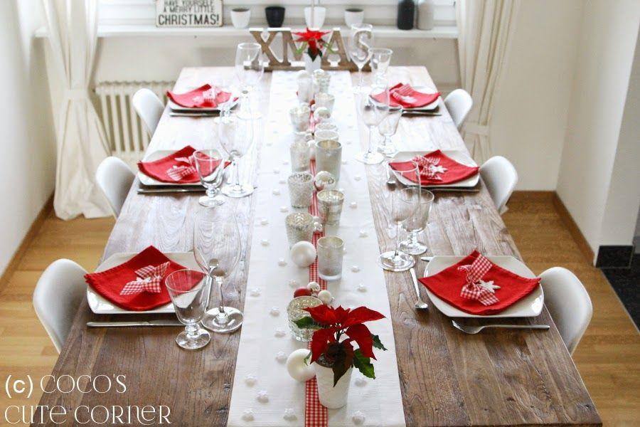 good Weihnachtstisch Festlich Decken Part - 8: Weihnachtstisch - festlich schön Cocou0027s Cute Corner
