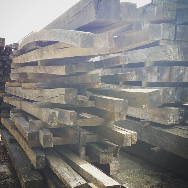 Really old air dried oak beams available. Perfect for between green ...