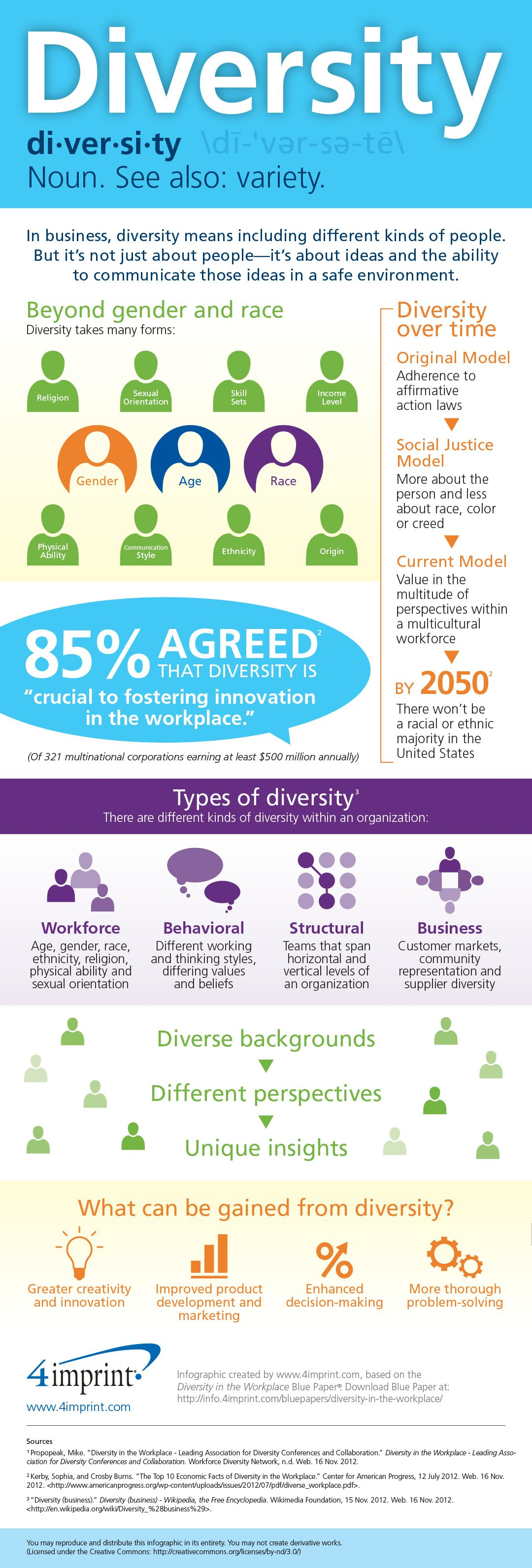 Diversity In The Workplace Infographic