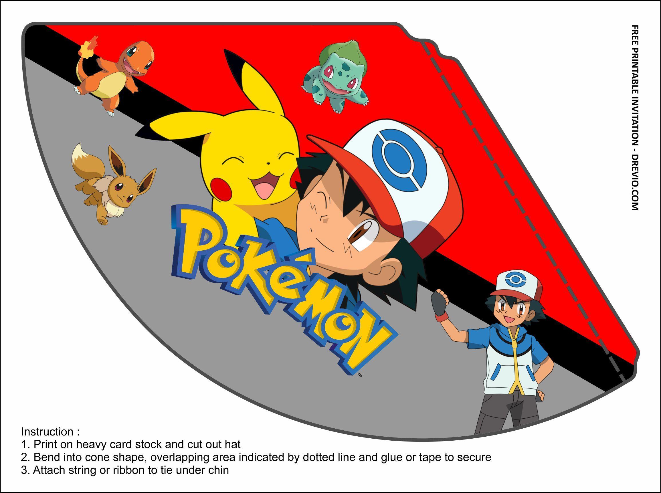 pokemon birthday party kits templates