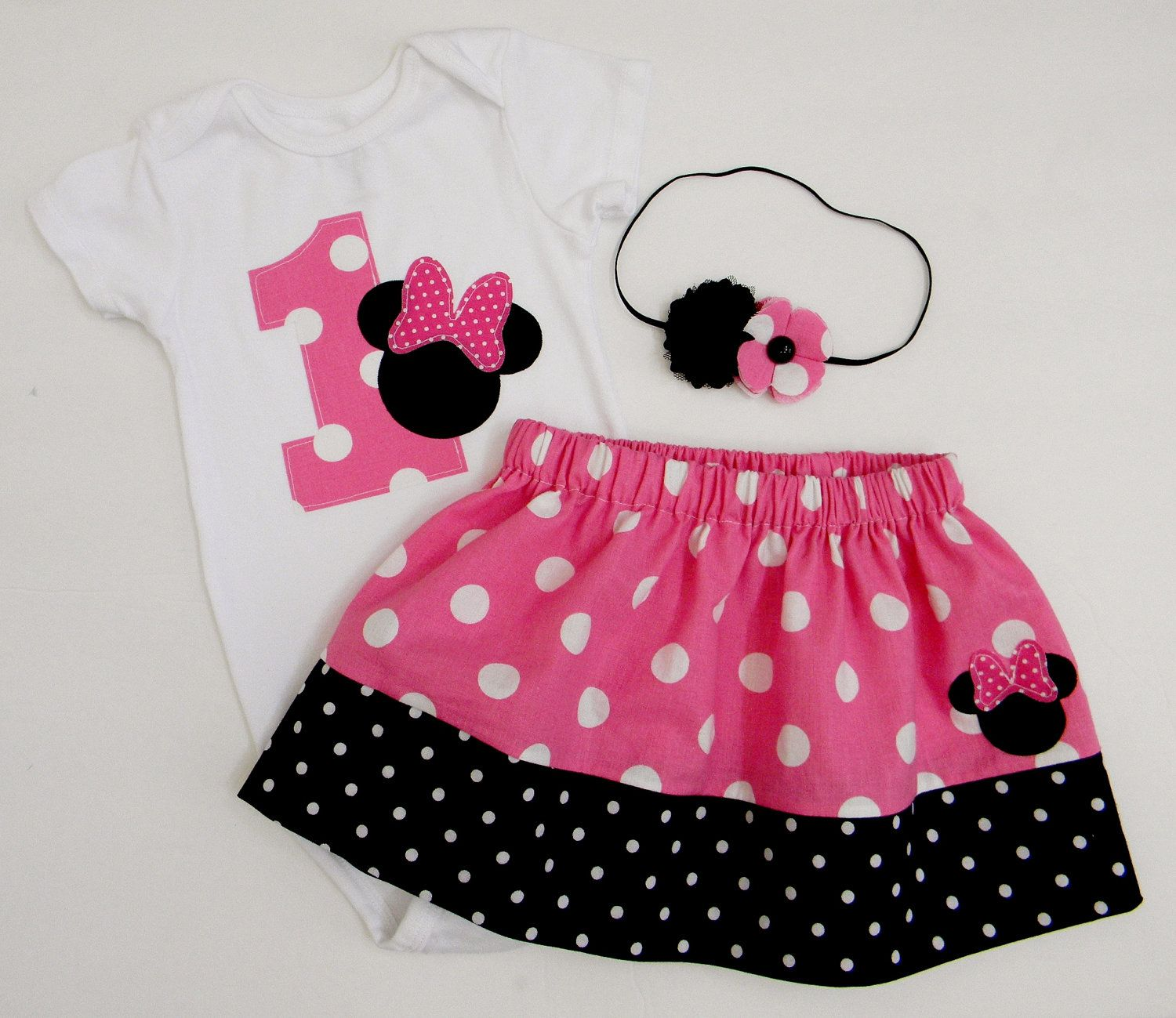 READY TO SHIP Minnie Mouse Birthday Outfit by TheBaerEssentials ...