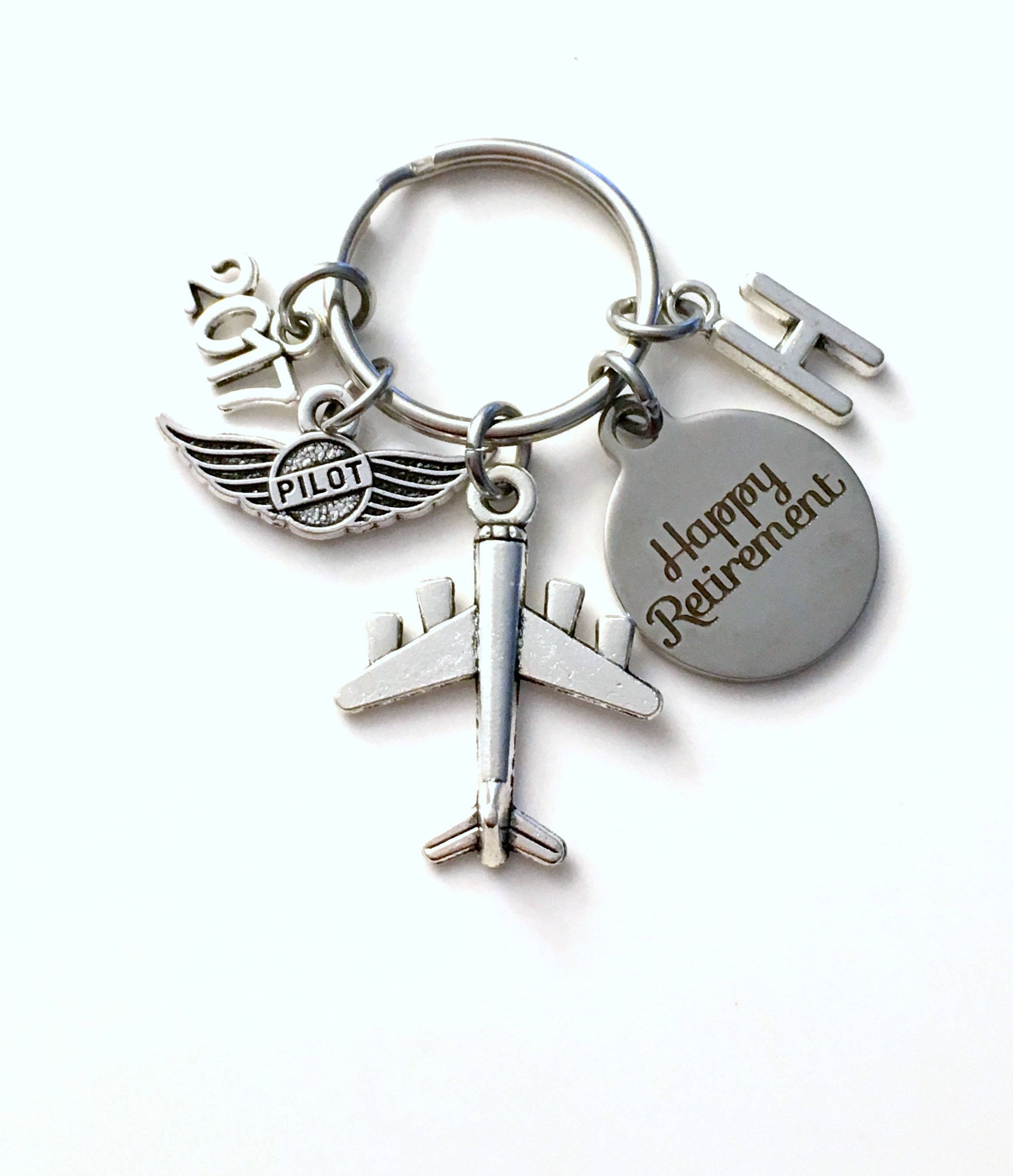 retirement letter to boss%0A Pilot Retirement Present  Flight Instructor Key Chain Airplane Keyring him  her men women present Retire Birthstone Man Gift for Wings Plane