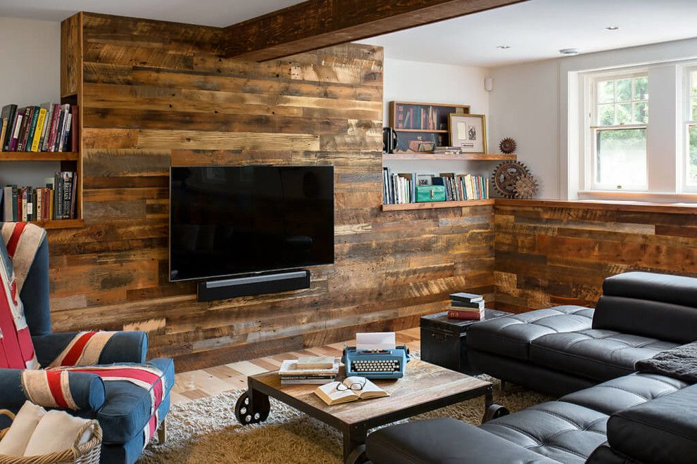 Rustic Basement Family Industrial With Style Folding Wall
