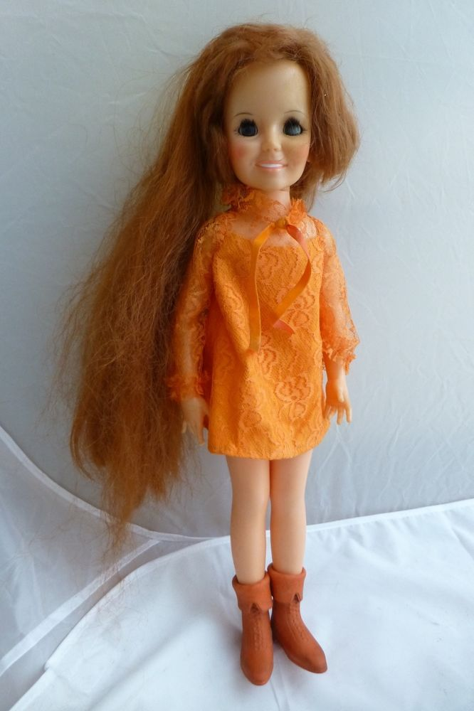 Vintage Ideal Crissy Doll Hair Grows 1968 Growing Red Hair For Parts