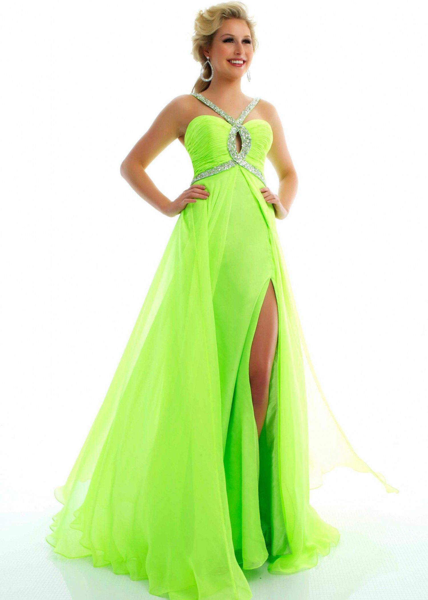 1383f8b727e Lime green prom dress!!
