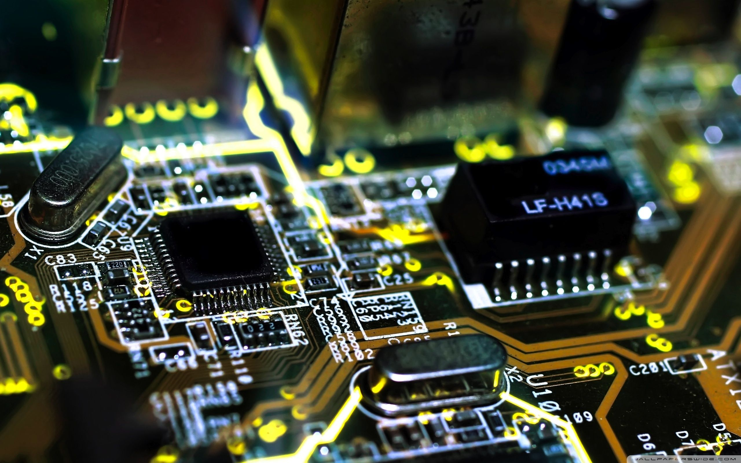Technology Hd Wallpapers And Backgrounds Electronics Wallpaper Electronics Circuit Electronic Circuit Board