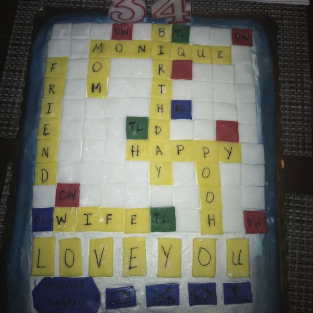 My Words With Friends Birthday cake