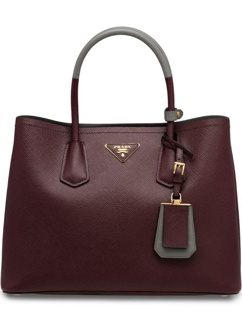 Photo of Prada Saffiano Double Tote Bag