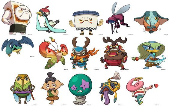 yokai watch characters monsters project pinterest characters