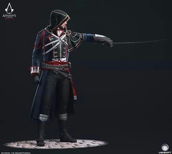 Assassins Creed Unity Concept Art.