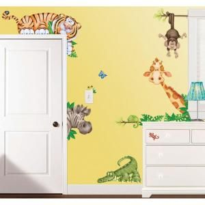 In X In In The Jungle Super Jumbo Wall Decal At - Nursery wall decals home depot