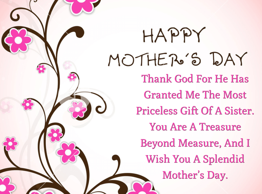 25 Mother's Day Quotes and Wishes for Sister 2019