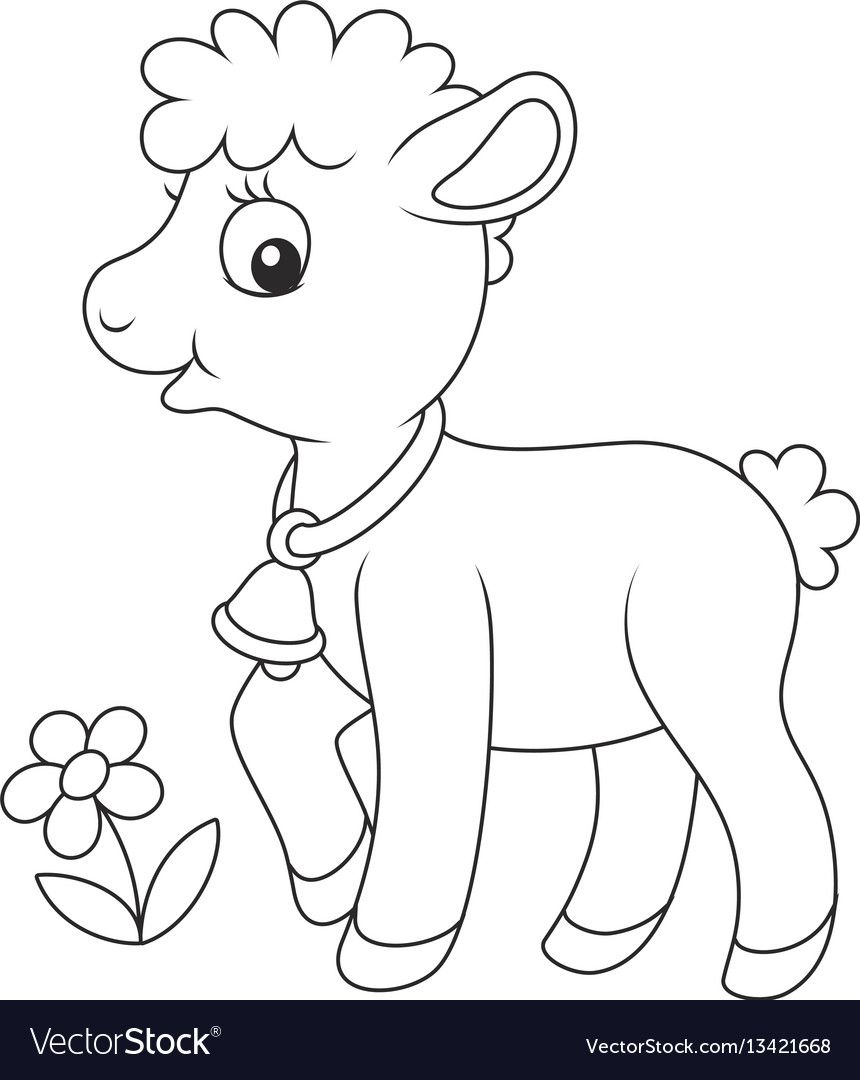 Black And White Vector Illustration Of A Cute Little Yeanling Walking Download A Free Preview Or High Quality Animal Clipart Vector Illustration Illustration