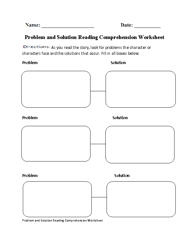 problem and solution reading comprehension worksheet. Black Bedroom Furniture Sets. Home Design Ideas