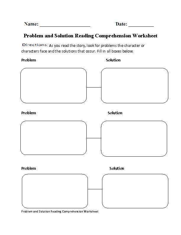 problem and solution reading comprehension worksheet. Black Bedroom Furniture Sets. Home Design Ideas