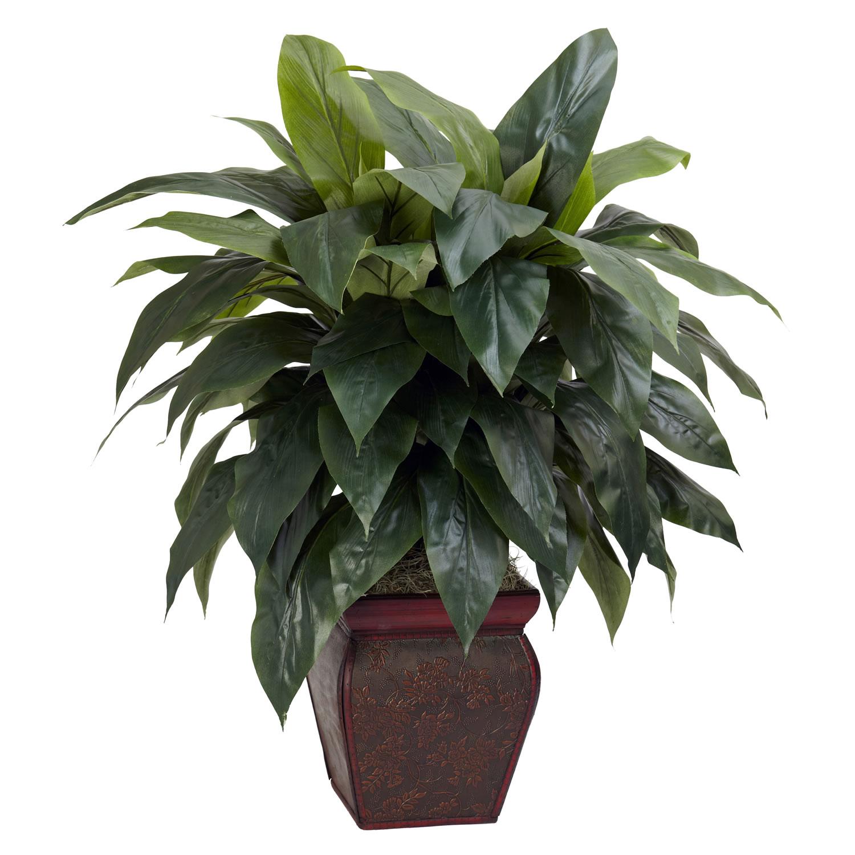 Silks pothos desk top plant in pot amp reviews wayfair - Silk Plants 35 Inch Cordyline In Decorative Vase