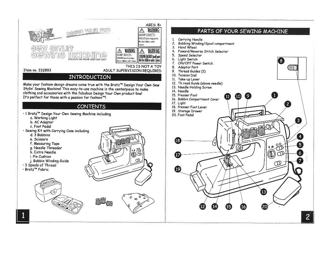Singer Sewing Machine Parts And Functions Pdf