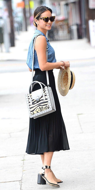 Aritzia skirt, Loeffler Randall bag and sandals