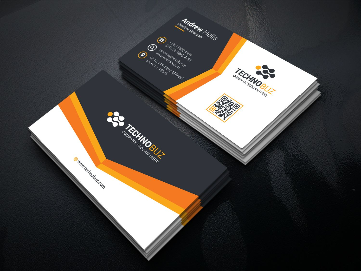 Canopus Modern Corporate Business Card Template Business Card
