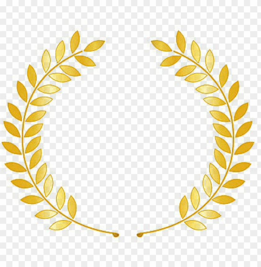 Laurel Wreath With Ribbon Laurel Wreath Gold Png Image With Transparent Background Png Free Png Images Logo Design Art Ribbon Png Laurel Wreath