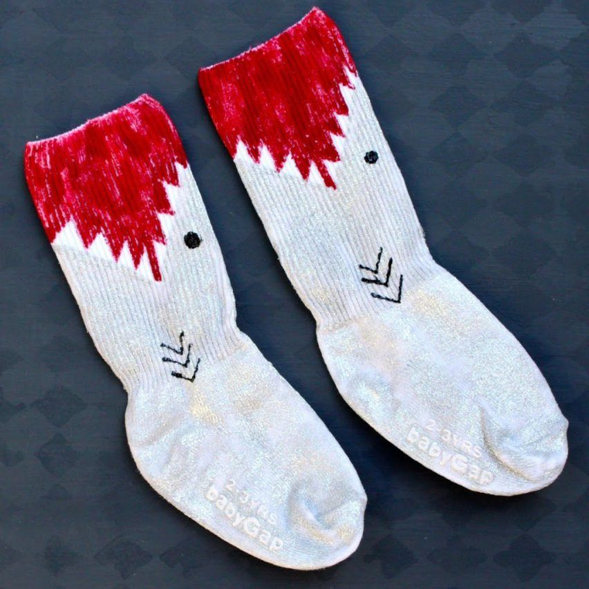 Paint Your Own Shark Socks - Morena's Corner