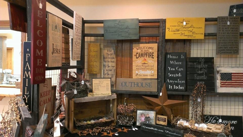 Christmas Craft Show Booth Ideas Part - 40: Craft Show Booth, Display Idea, Rustic Sign Display, Primitive