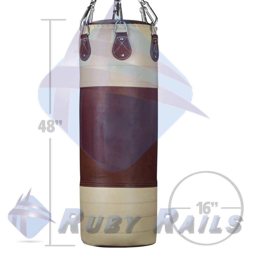 Ringside Heritage Heavy Punching Bag Unfilled Boxing Mma Muay Thai Rubyrails