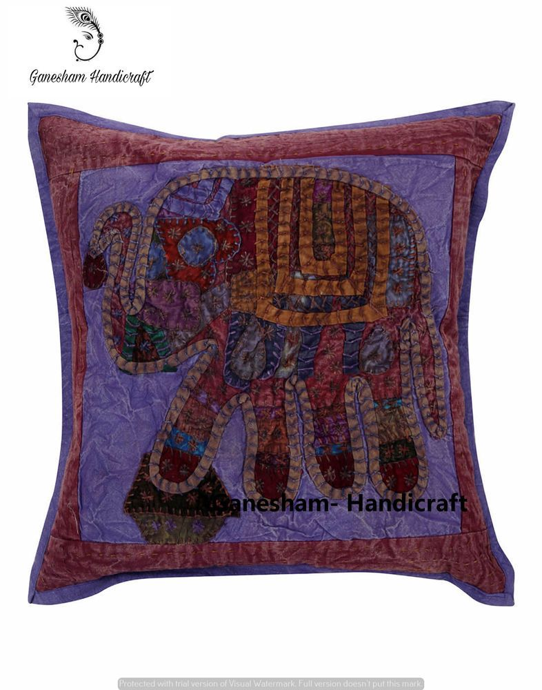 Indian Sofa & Couch Antique Handmade Cushion Cover Bohemian Decor