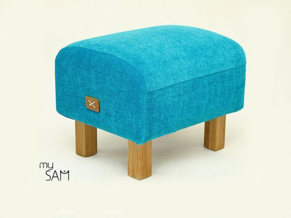 Pouf / Ottoman / Bench / Turquoise by mySAM