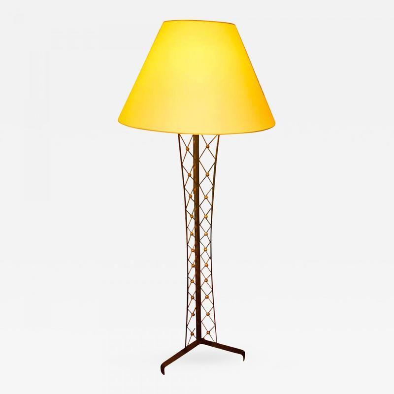 Jean Royere Model Tour Eiffel Wrought Iron Floor Lamp Lighting Galerie Andre Hayat Wrought Iron Floor Lamps Lantern Floor Lamp Lamp