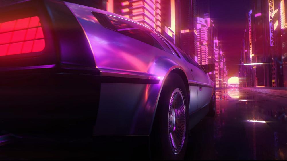Vaporwave Car Intro On Behance Car Intro Vaporwave